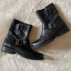 🖤Frye   Black Leather Ankle Boots🖤